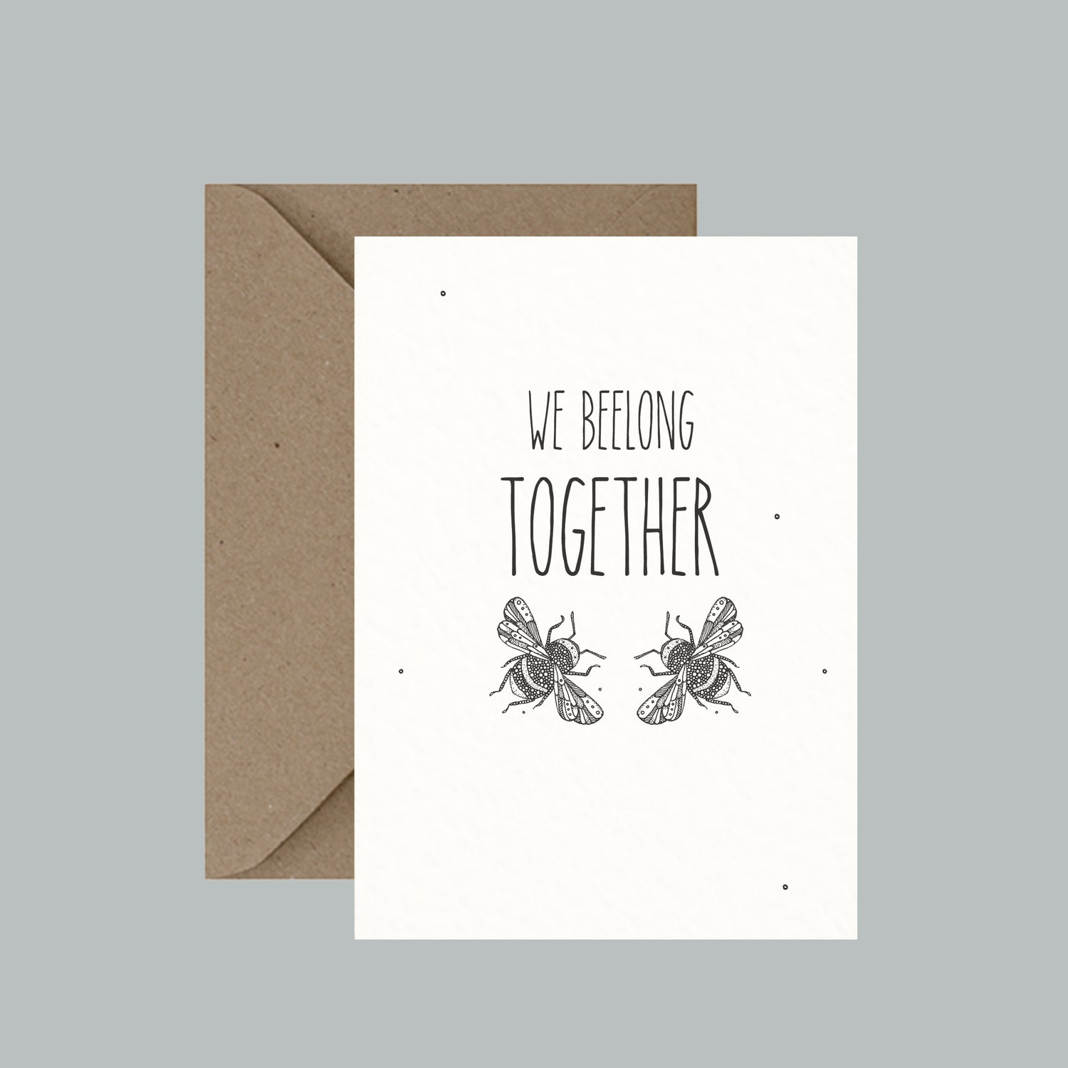 "Image of ""We beelong together"" greeting card"