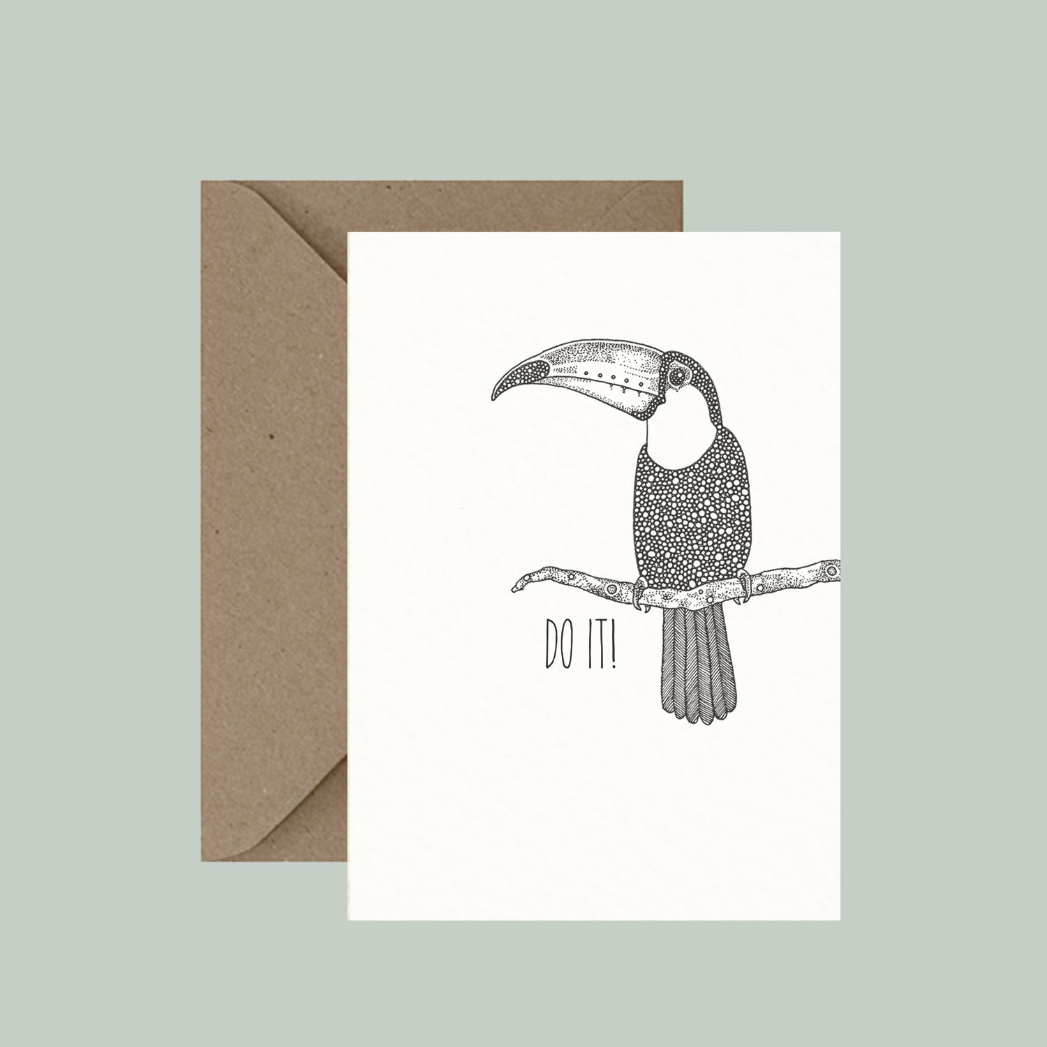 """Image of """"Toucan do it!"""" greeting card"""