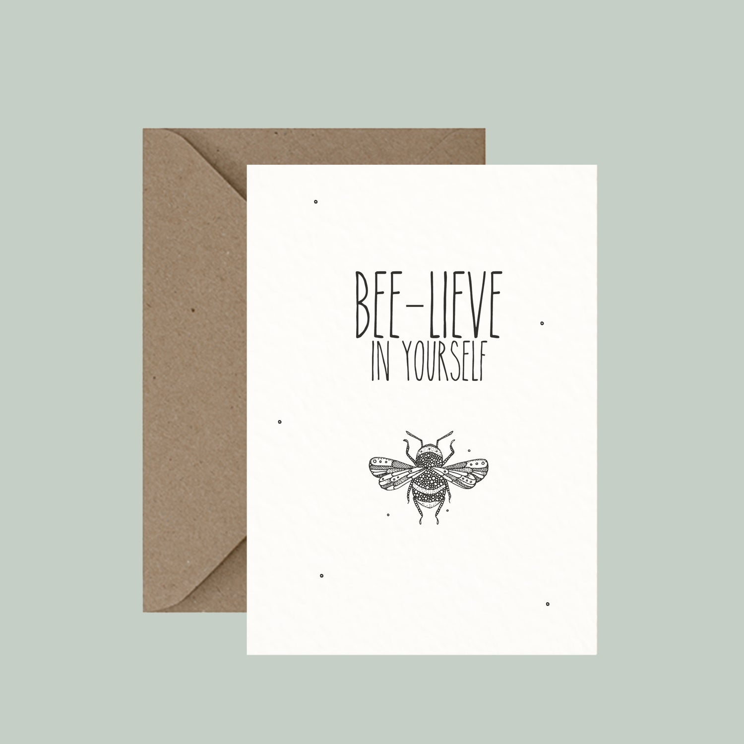 "Image of ""Bee-lieve in yourself"" greeting card"