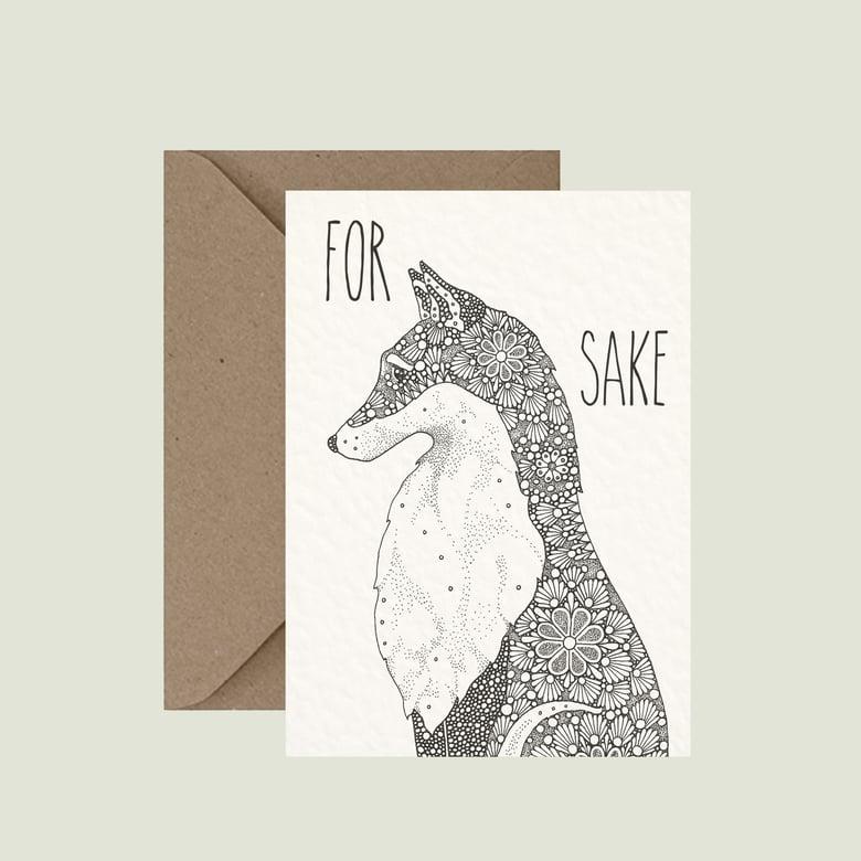 """Image of """"For fox sake"""" greeting card"""