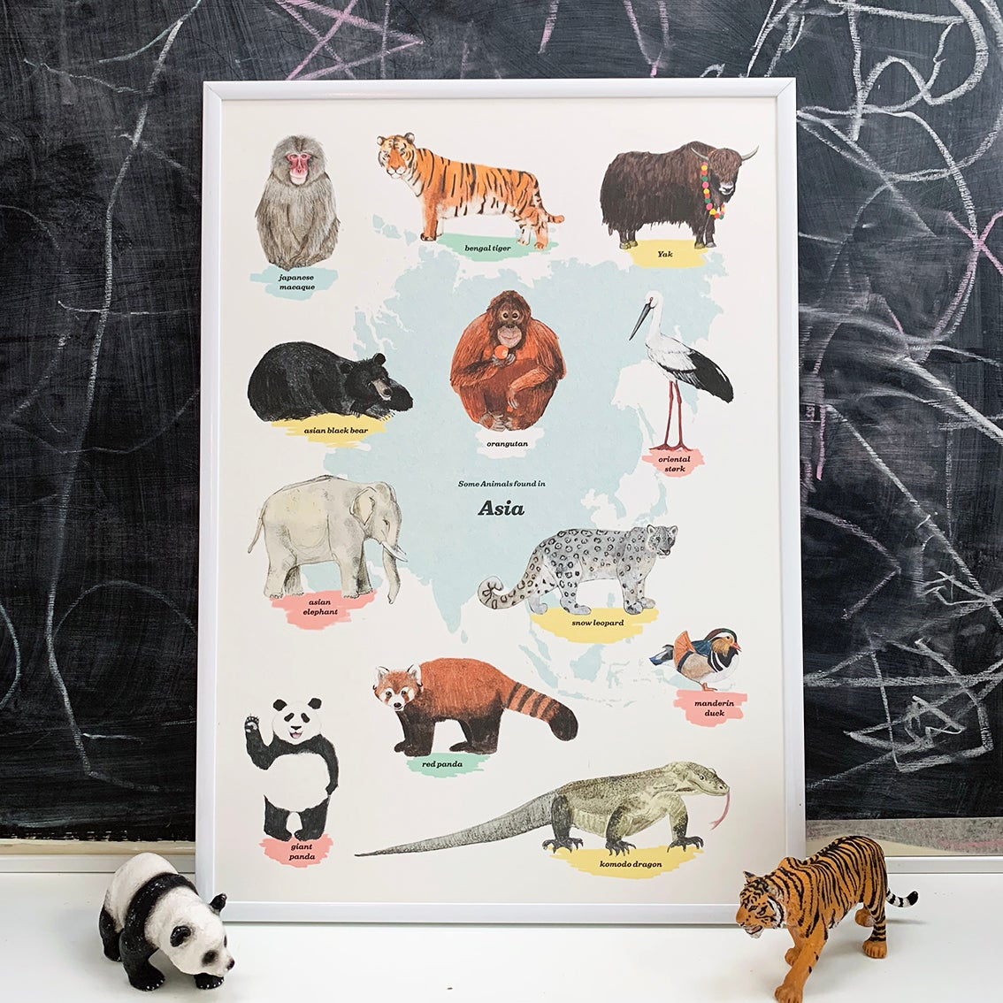 Image of Asia Animals Print