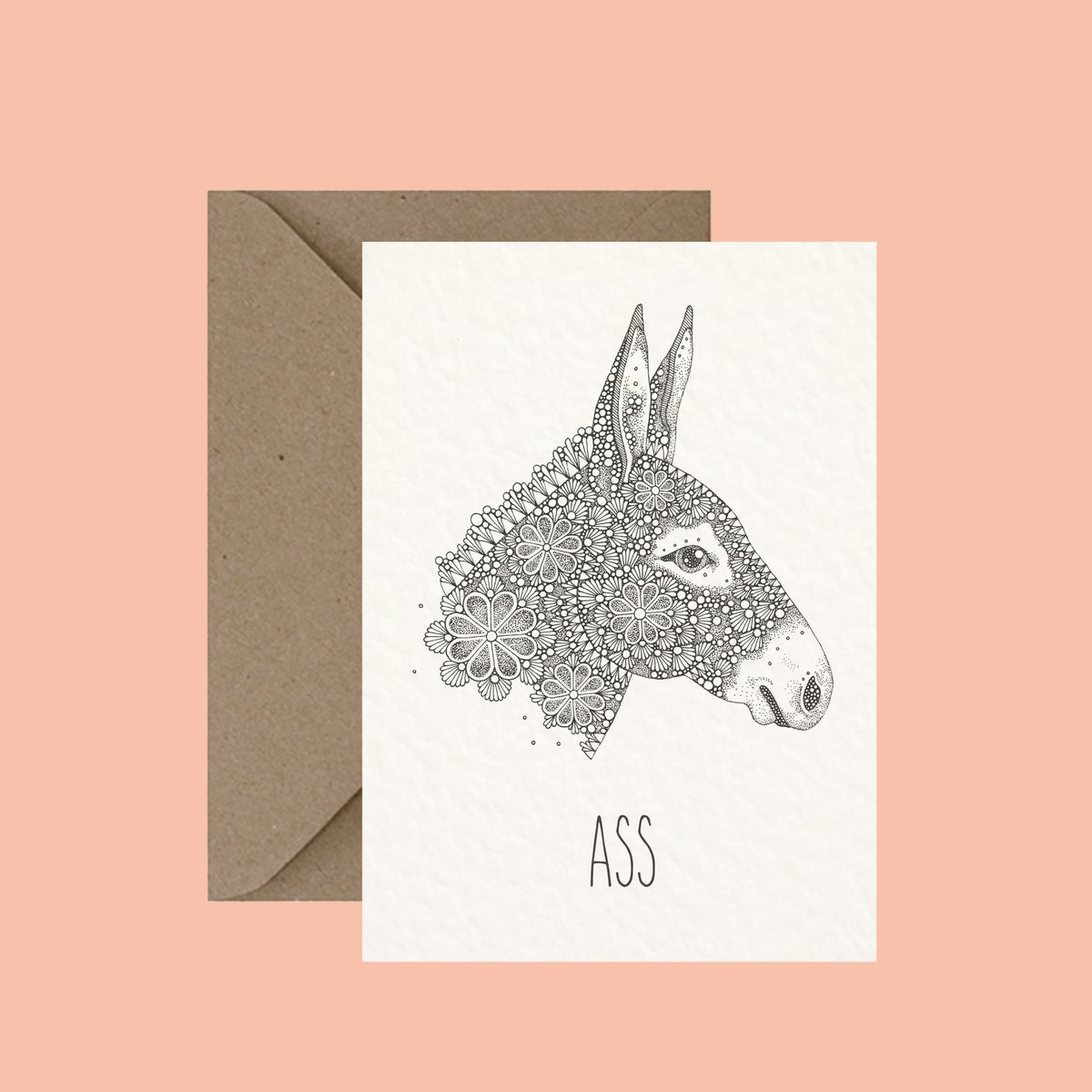 "Image of ""Ass"" greeting card"