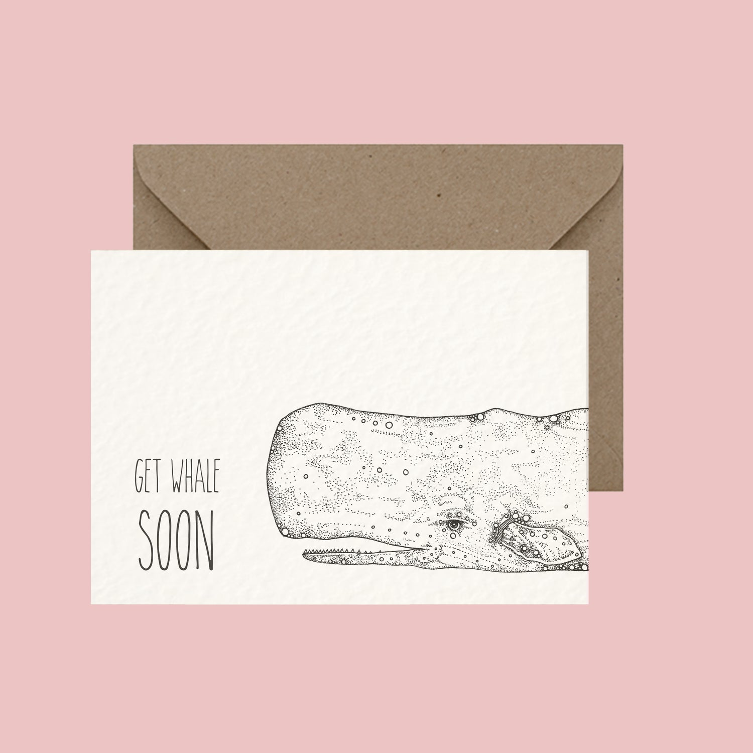 "Image of ""Get whale soon"" greeting card"