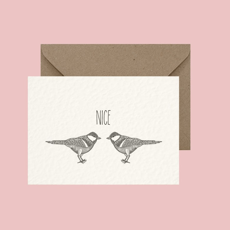 "Image of ""Nice tits"" greeting card"