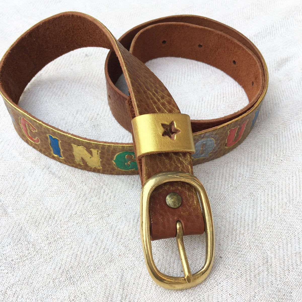 ★ Hand Painted Belt