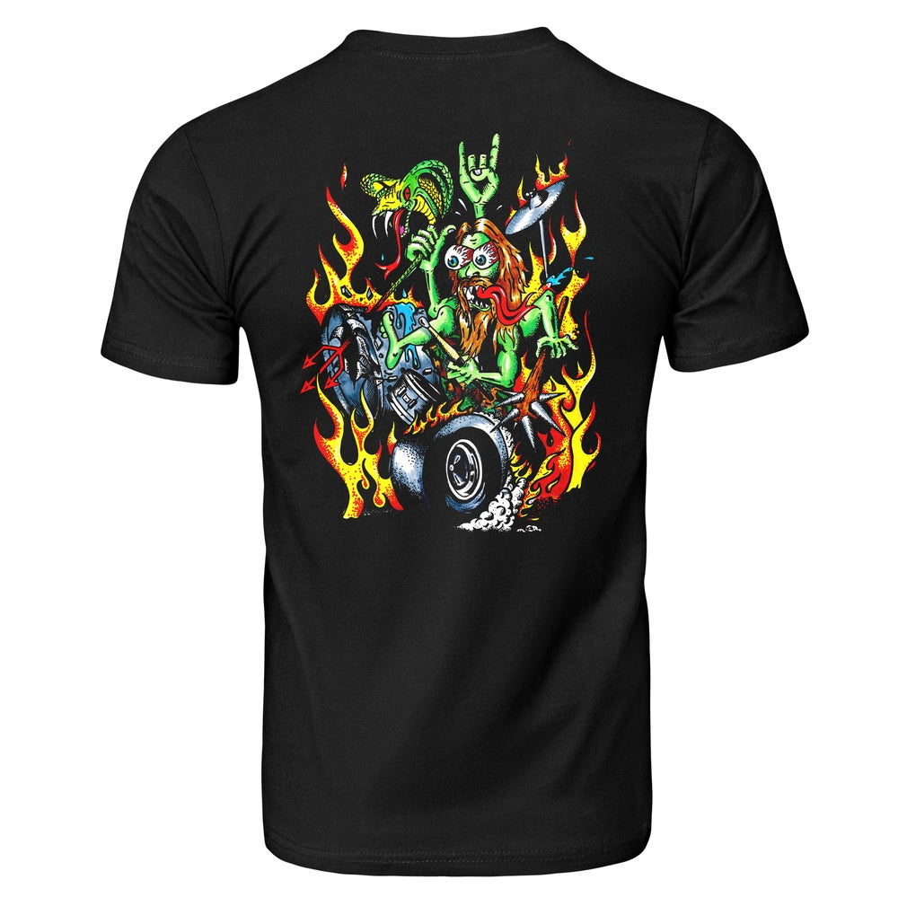 Image of Paul Bostaph Drummer from Hell Limited Edition Black Tee