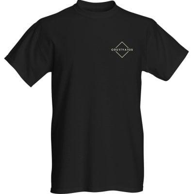 Image of Courtyards Emblem Tee Black