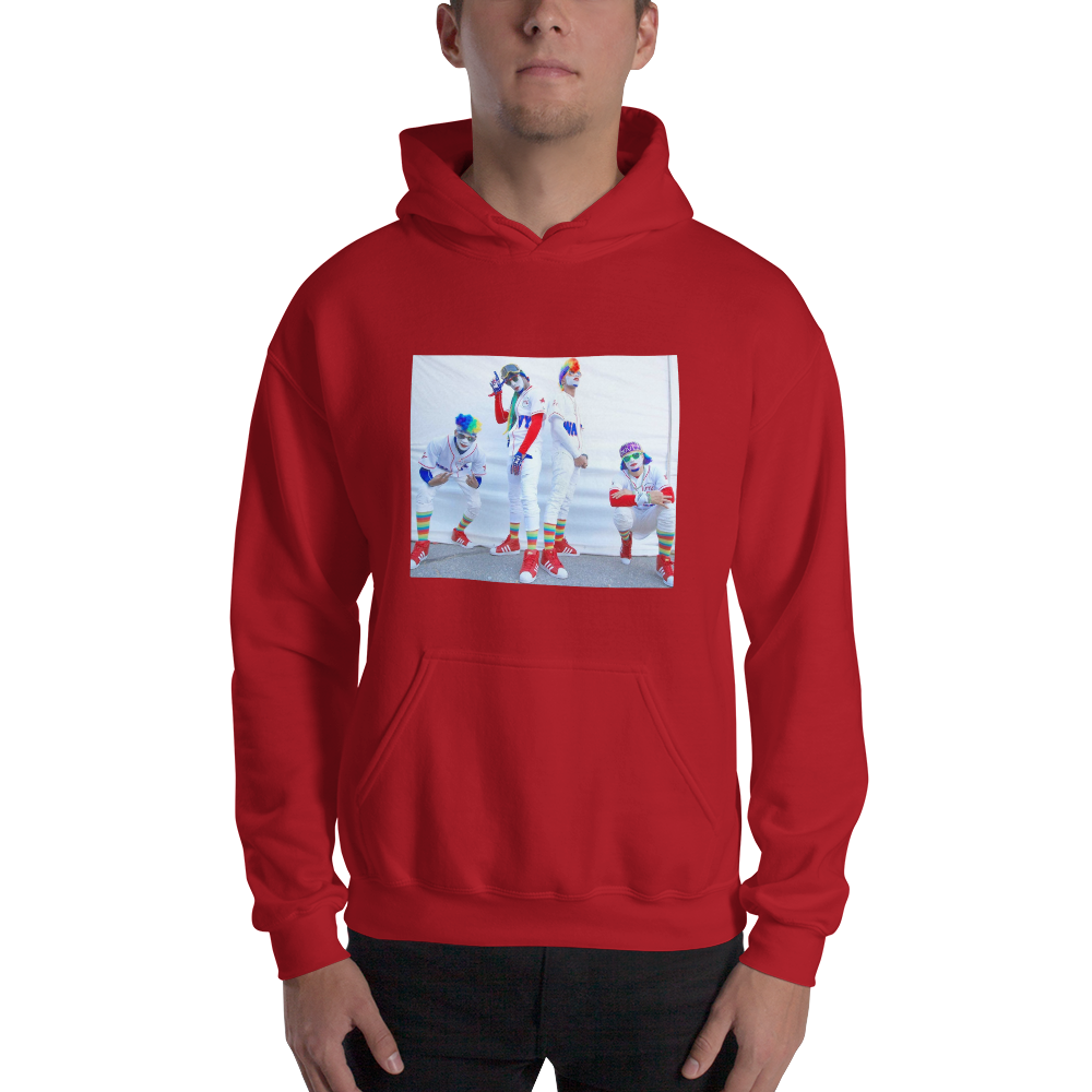 Image of Fresh the Clowns Photo Hoodie - Red