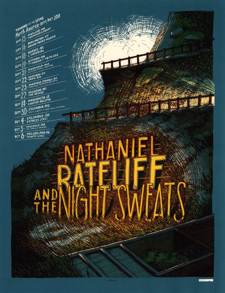 "Image of Nathaniel Rateliff & The Night Sweats (Sept/Oct 2018 Tour) • L.E. Official Poster (18"" x 24"")"