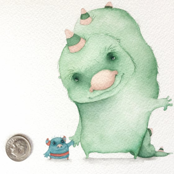 Image of Going First: an original watercolor