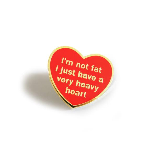Image of Heavy Heart Enamel Pin