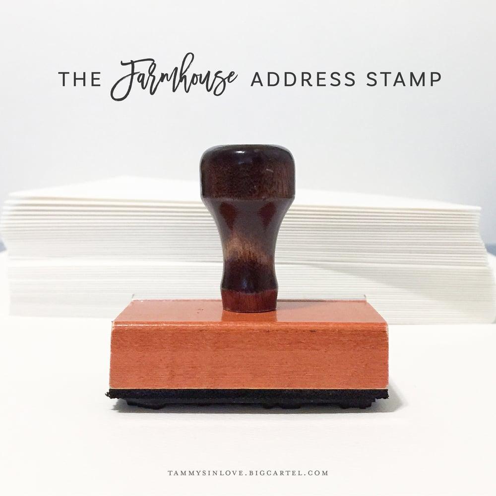 Image of Farmhouse Address Stamp