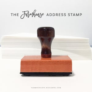 Image of Farmhouse Address Stamp