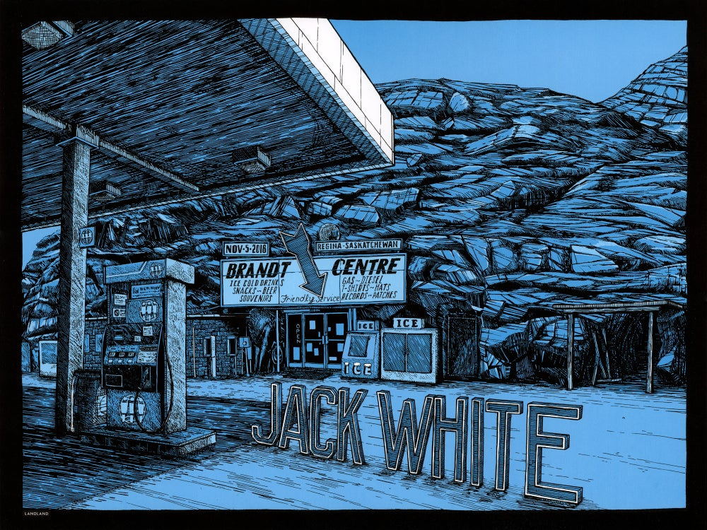 "Image of Jack White (Regina, Saskatchewan) • Limited Edition Official Poster (18"" x 24"")"