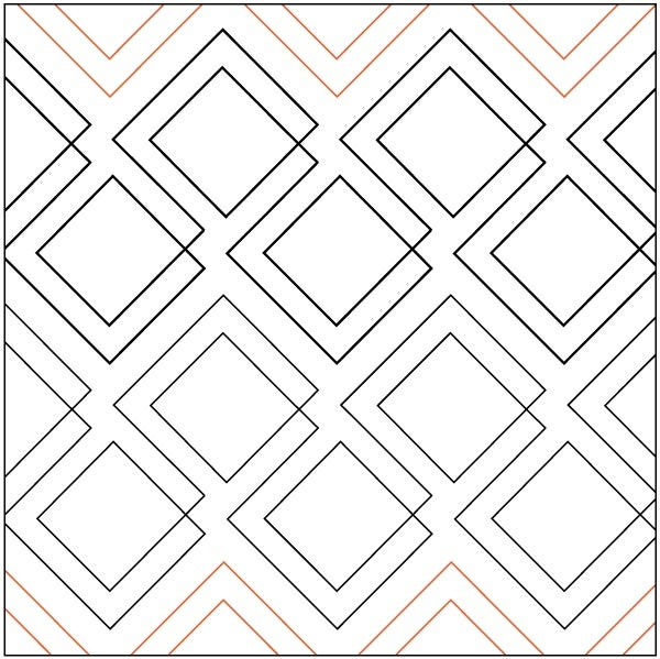 Image of NEW!! Machine Quilting By Mail Deposit - Diagonal Plaid