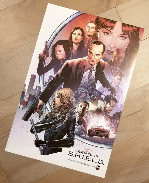 Image of AGENTS of SHIELD - San Diego Comic Con 2015 Exclusive Poster