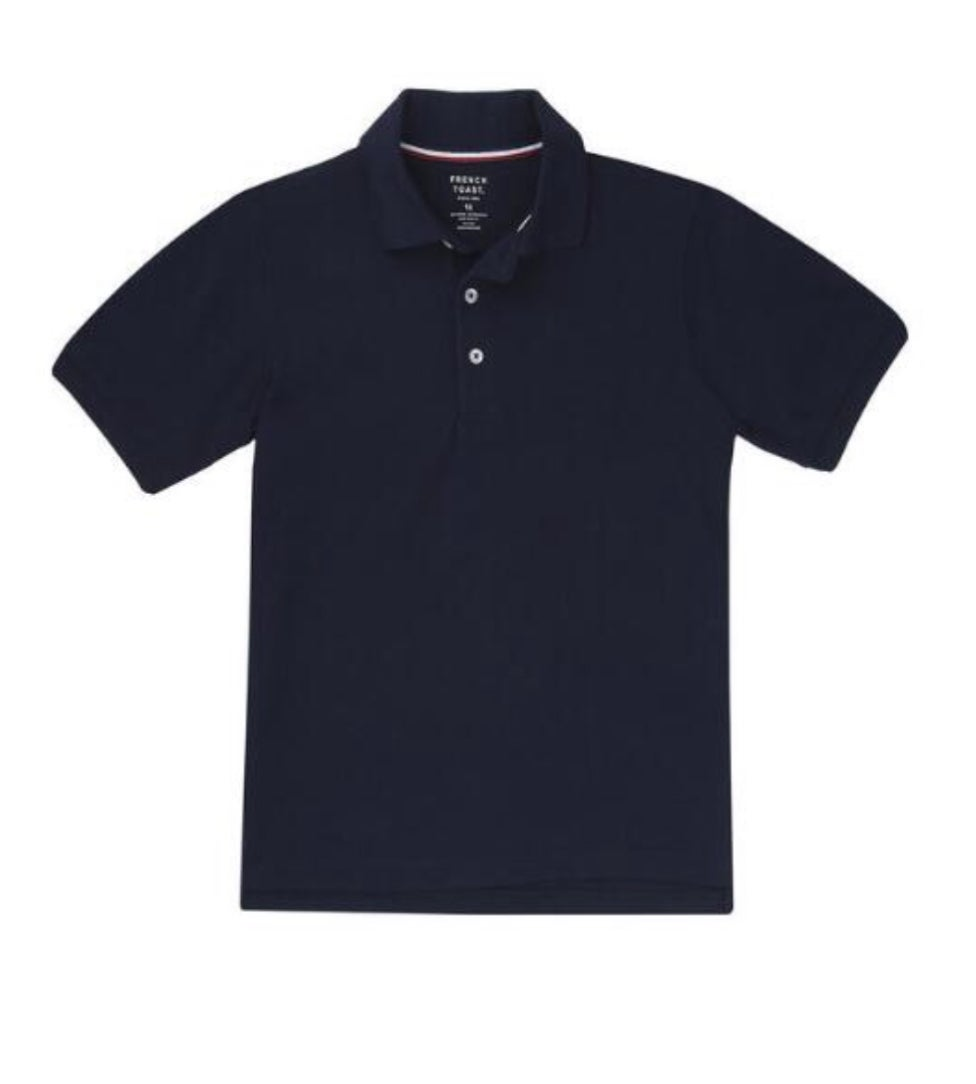 Image of Boys French Toast Short Sleeve Pique Polo - Navy