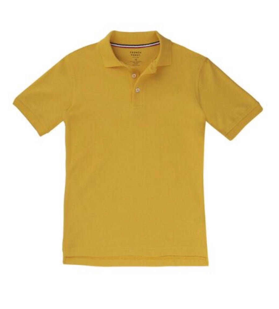 Image of Boys French Toast Short Sleeve Pique Polo - Gold
