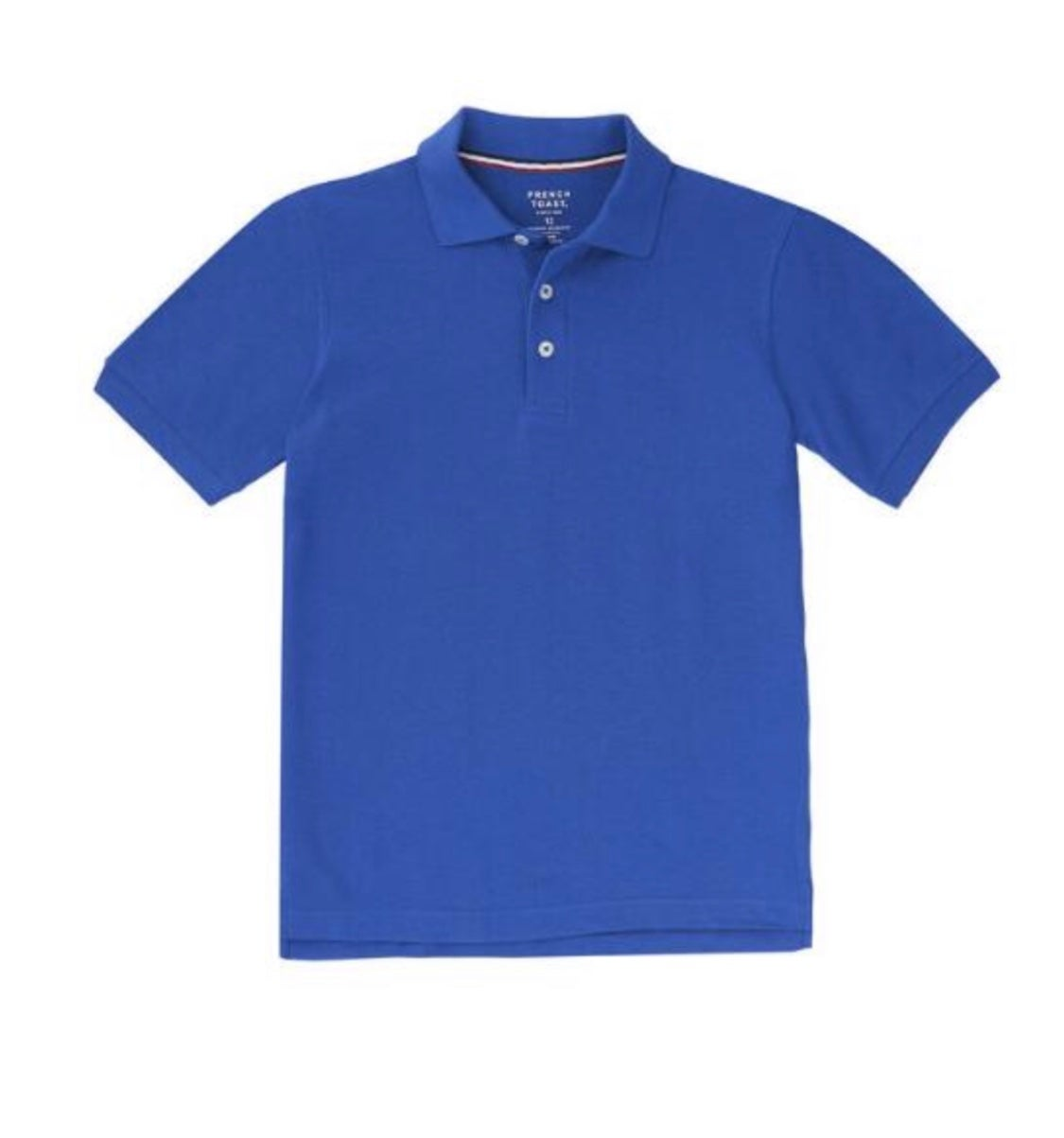 Image of Boys French Toast Short Sleeve Pique Polo - Royal