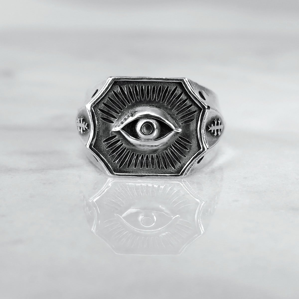 Image of All-Seeing Eye Signet Ring SM