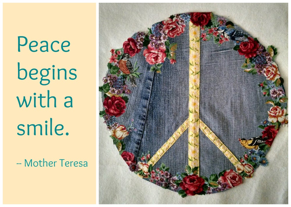 Image of Brodere Peace Patch project greeting card