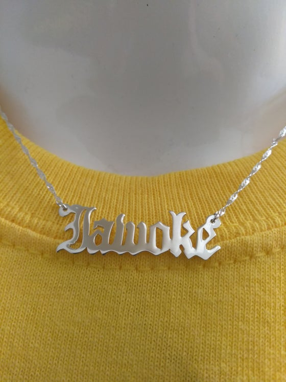 Image of I Awoke Silver Chain .925 Italy
