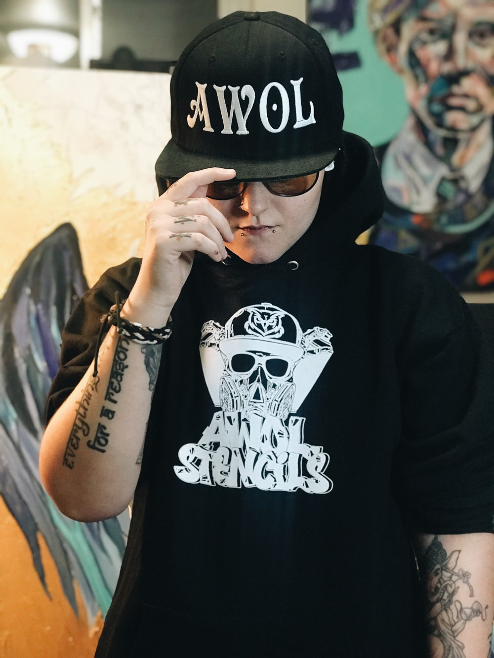 Image of AWOL Stencils Hoodies