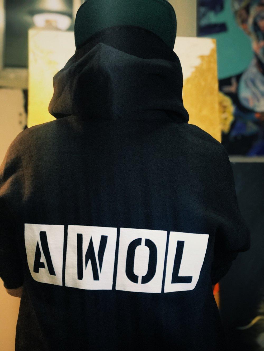 AWOL Stencils Hoodies