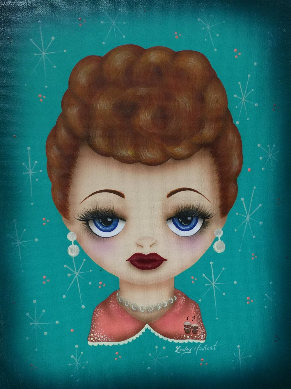 Image of I Love Lucy Big Eyes Print