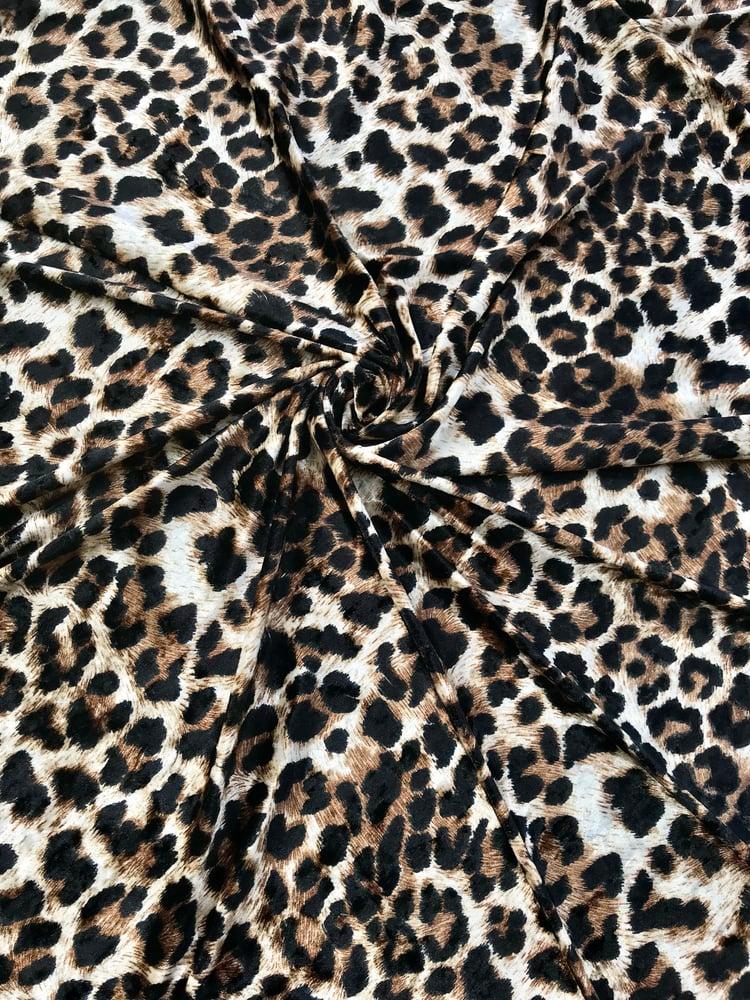 Image of Leopard Crushed Velvet