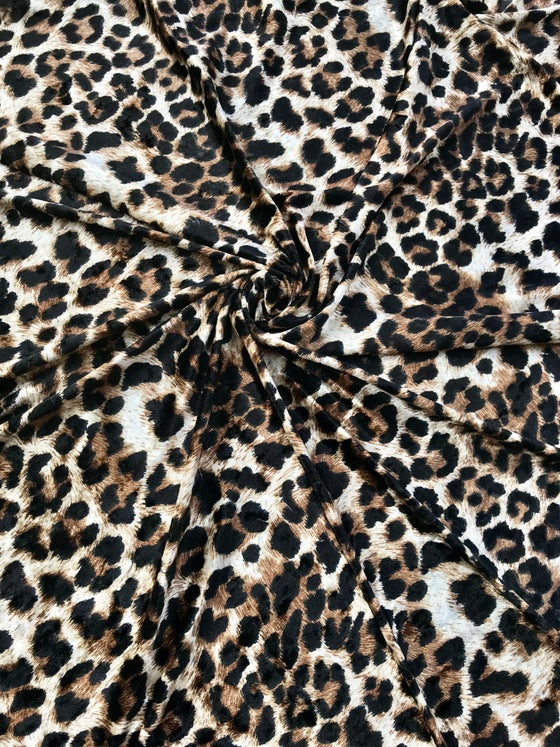 Image of Leopard Crushed Velvet