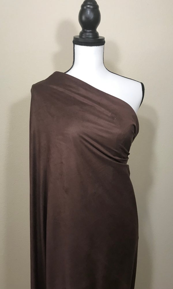 Image of Chocolate Faux Suede