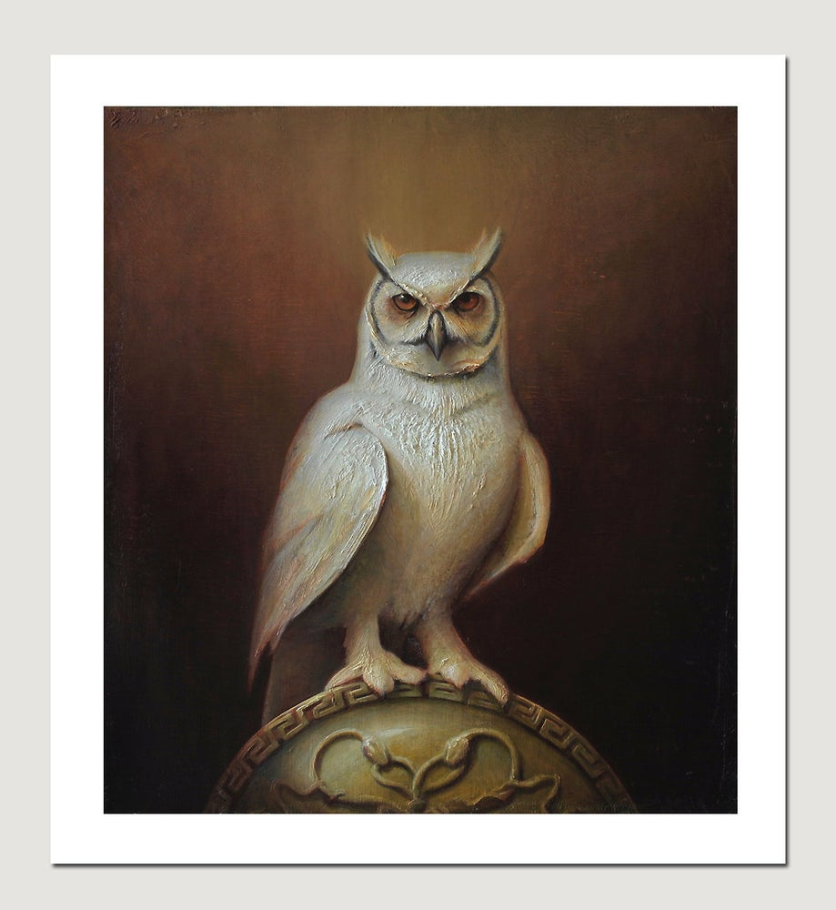 Image of Luke Hillestad 'Owl of Athena' giclée print signed & numbered