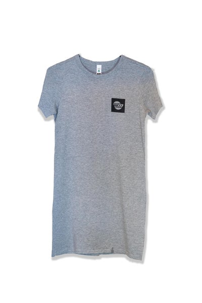 Image of Malibu Women's T-Shirt Dress - Black/Grey