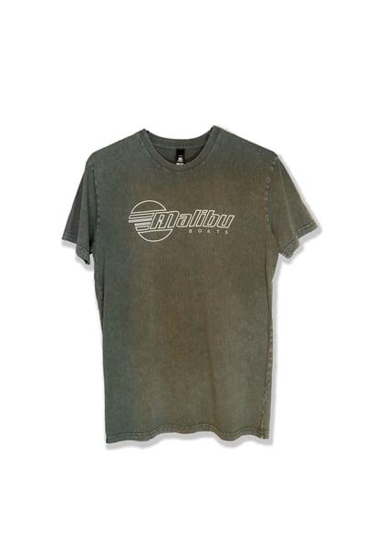 Image of Malibu Unisex Stone Wash T-Shirt - Moss