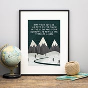 Image of Joys be as deep as the snow (Print)