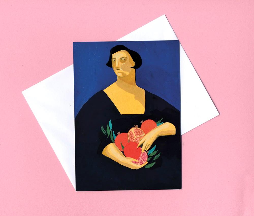 Image of Persephone greetings card