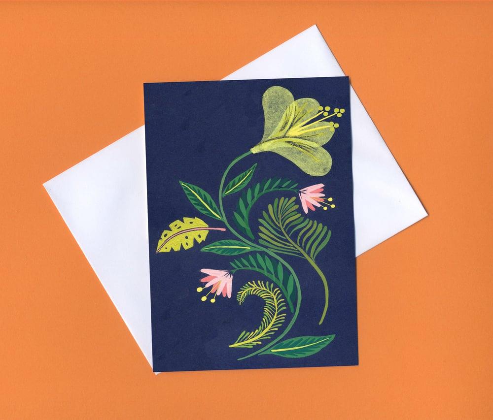 Image of Botanical greetings card