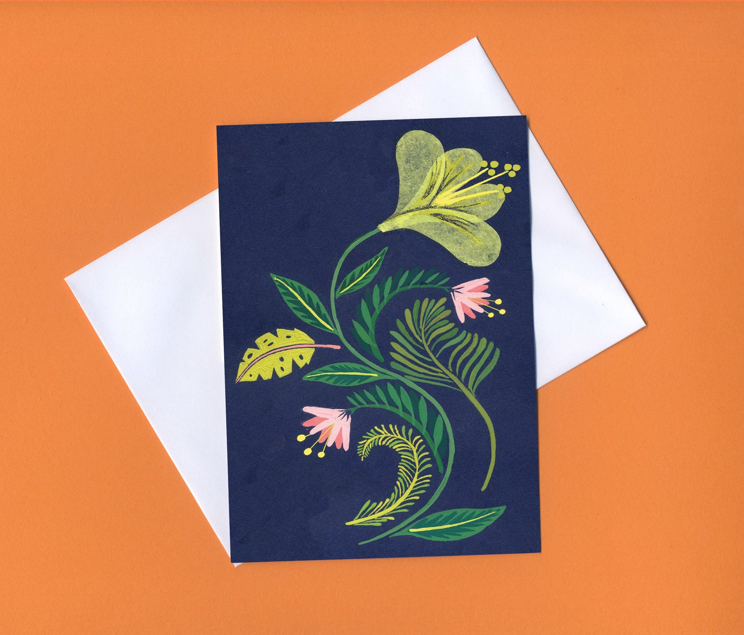 Image of Botanical greetings card