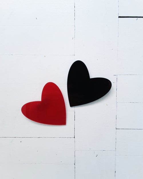 Image of broška SRCE // črna /  brooch HEART // black
