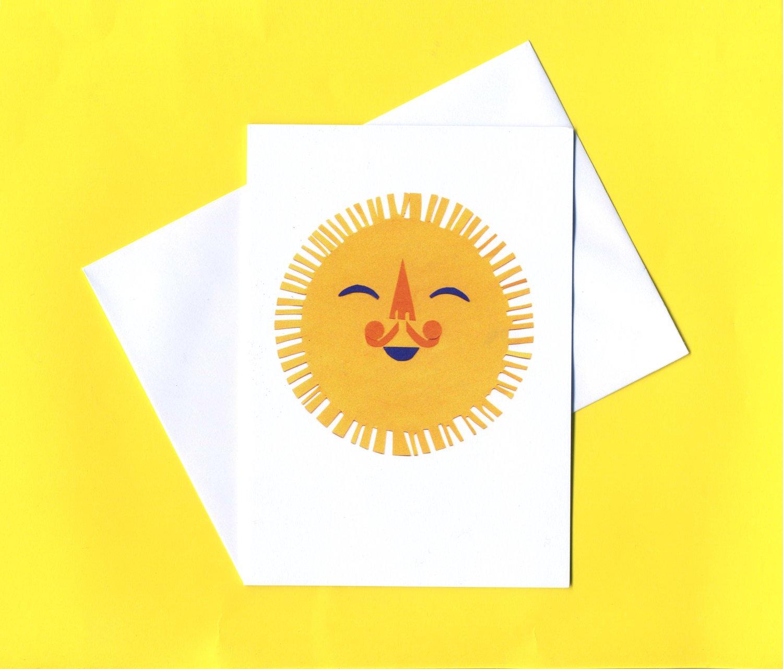 Image of Sunshine greeting card