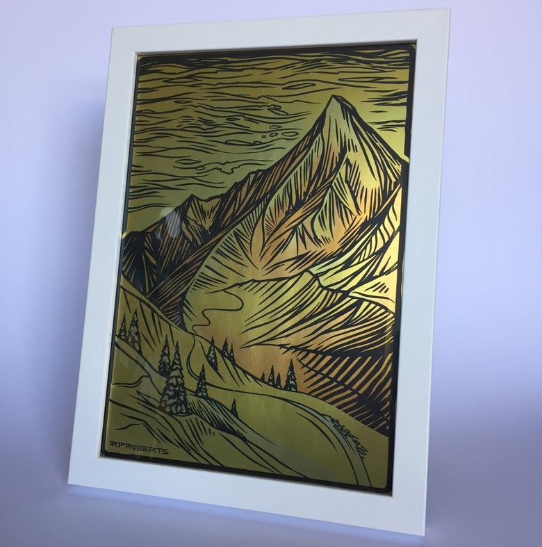 Image of Limited edition golden A4 print