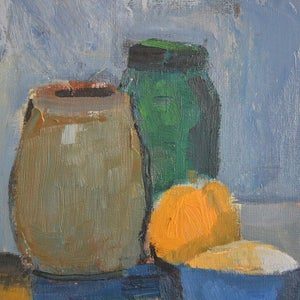 Image of 1965, Still Life with Bottles, Marcelle Fontolliet
