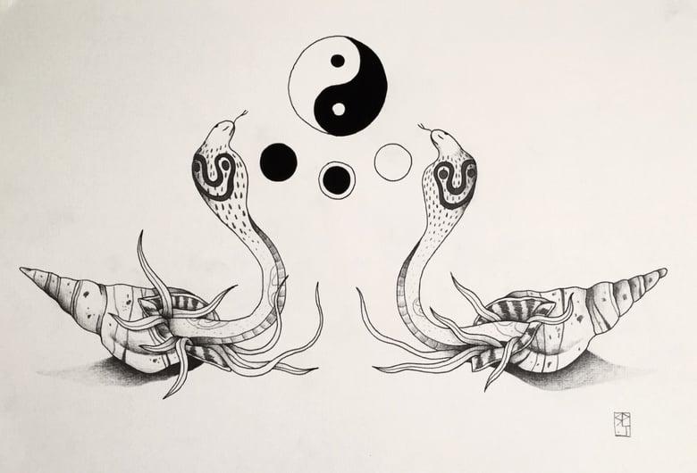 """Image of """"Le danse des serpents."""""""