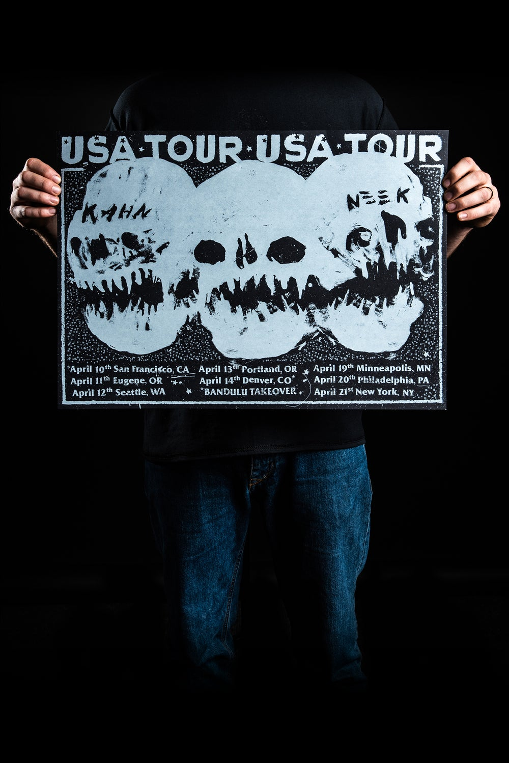 Image of KAHN & NEEK (A2 SCREENPRINT - USA TOUR 2018)