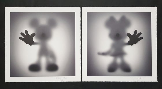 Image of WHATSHISNAME - GONE COLLECTORS EDITION - MICKEY & MINNIE - LTD ED 30 - 35CM X 35CM