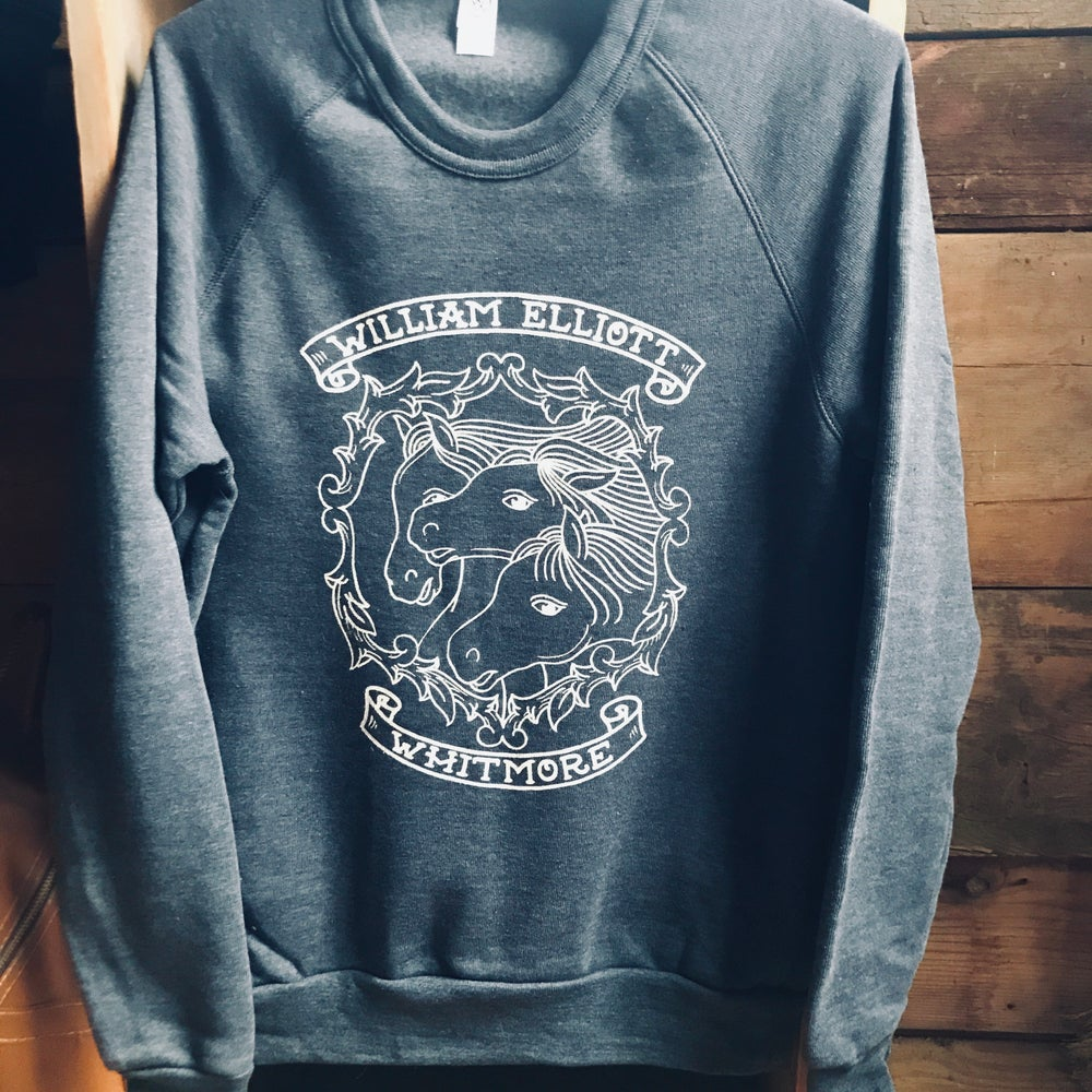 Image of (Unisex) Three Horses Crewneck Sweatshirt