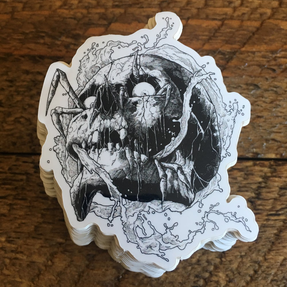 Image of Wet Skull Sticker