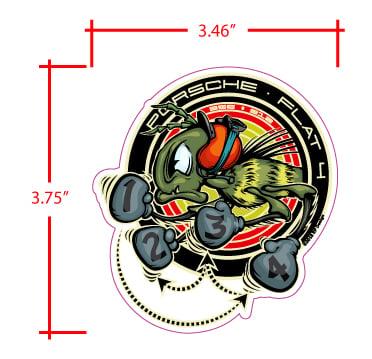 "Image of 912-356 FIRING ORDER- WINDOW STICKER SET -  3.75"""