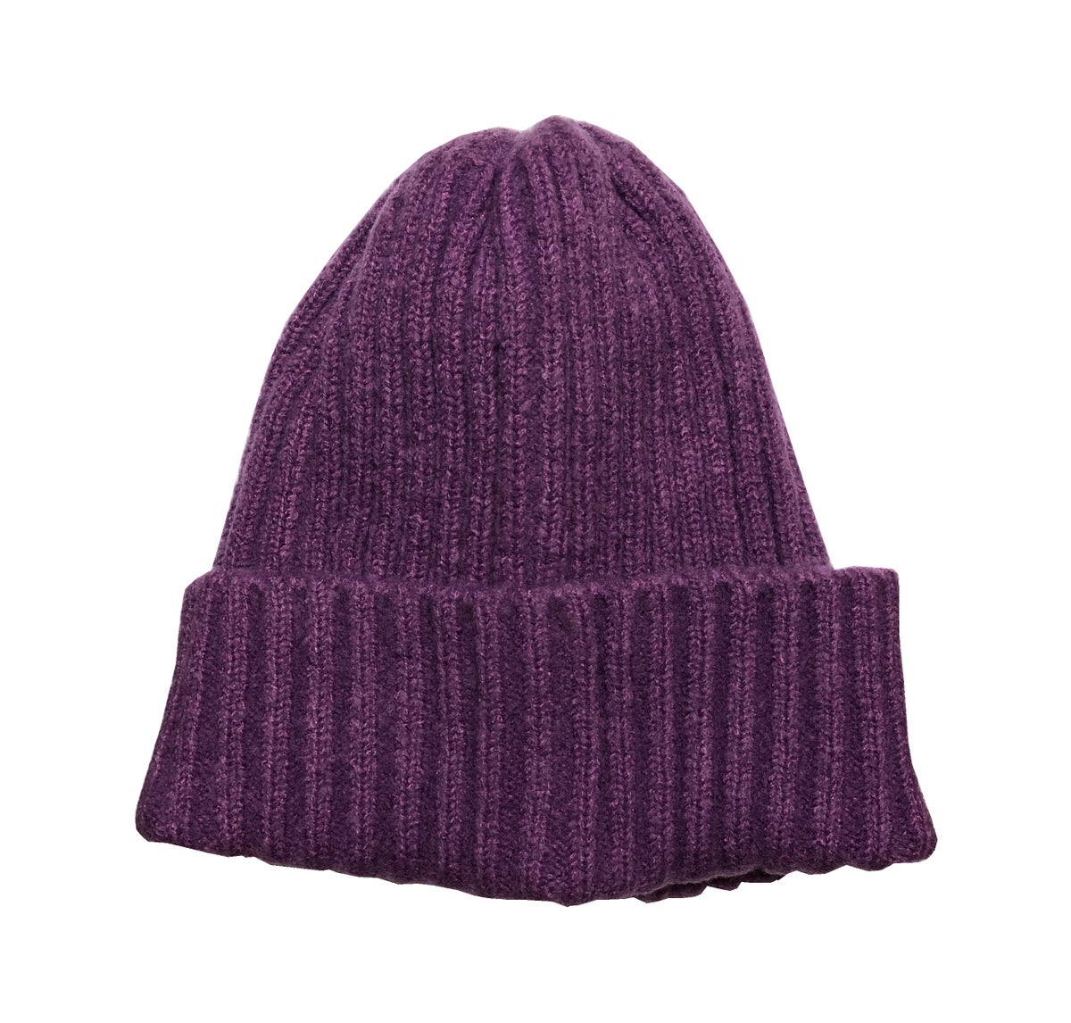 Image of Soft Fisherman's Beanie/ Watch Cap. Purple